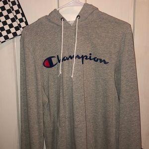 Champion grey sweatshirt hoodie